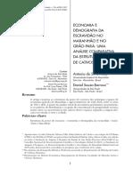 Economia e Demografia No Maranhão e Pará Metodologia