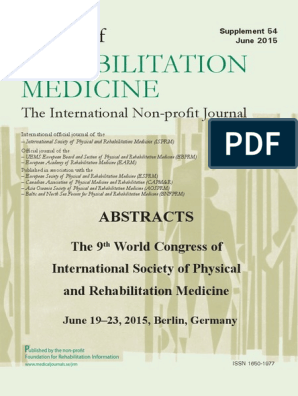 Abstract Booklet ISPRM 2015 | Fibromyalgia | Cognitive