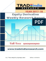 Weekly Derivative Research Report by TradeIndia Research 20-11-2017 to 24-11-2017