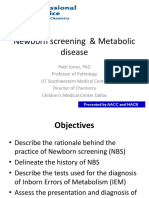 Newborn Screening & Metabolic disease [ Apr 29 2013]