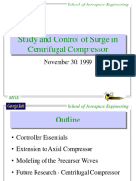 Study and Control of Surge in Centrifugal Compressors