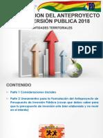Directrices de Inversión Publica 2018