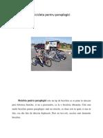 bicicleta paraplegici