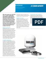 SAILOR 250 FleetBroadband Product Sheet