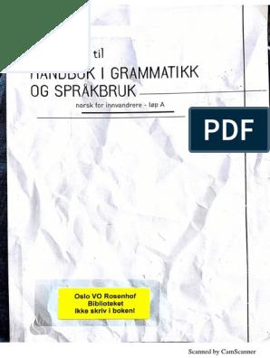 håndbok i grammatikk og språkbruk norsk for innvandrere pdf