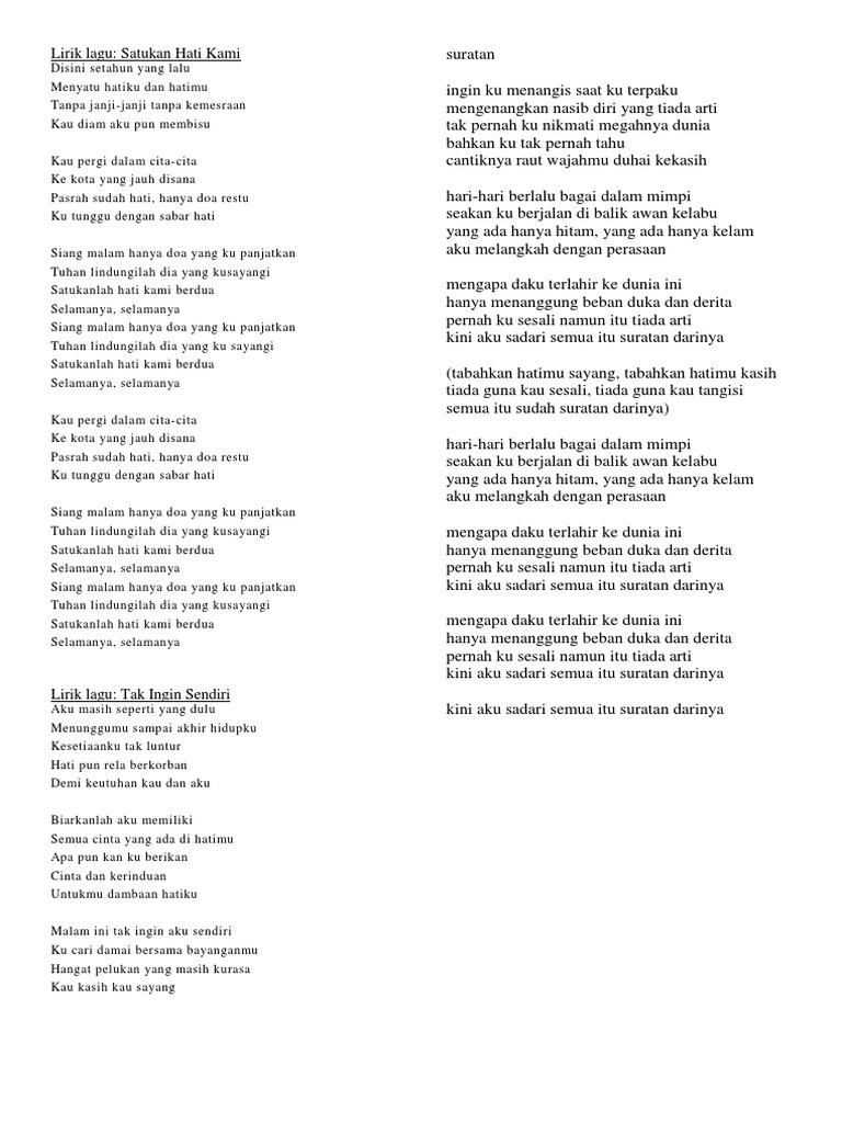 Lirik Lagu Docx