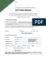 Formulario de Petitorio - Ejemplo