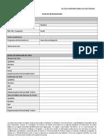 Formulario Plan de Investigacion