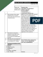 Revenue Recovery Certificate Ver 1.2
