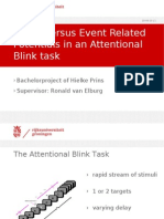 ACT-R versus Event Related Potentials in an Attentional Blink task