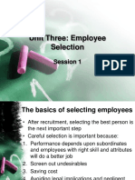 Unit 3 Employee Selection