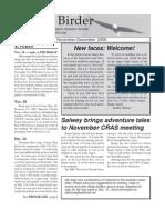 November-December 2006 Coulee Birder Newsletter Coulee Region Audubon Society