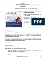 Introduction to Matrix in MATLAB