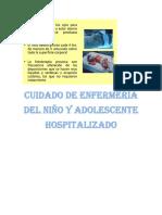 Cuidado de Enfermería Del Niño y Adolescente Hospitalizado