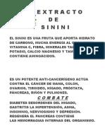 Propiedades Del Sinini