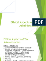 Ethical Aspects Tax Admin