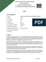 Sílabo Maestría Planificacion Recursos Empresariales