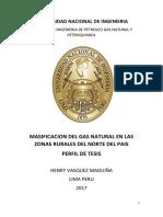Masificacion Del Gas Natural en Las Zonas Rurales Del Norte Del Pais