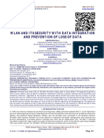 WLAN AND ITS SECURITY WITH DATA INTEGRATION AND PREVENTION OF LOSS OF DATA