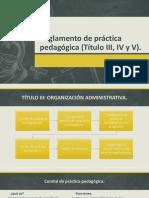 Reglamento de Práctica Pedagógica