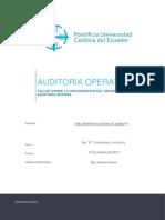 Organización Del Departamento de Auditoría Interna_taller