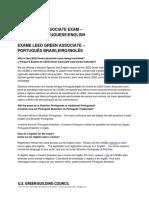 FAQ - LEED Green Associate - Portuguese - PORTUGUES
