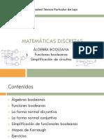 Matemáticas Discretas 1Bim Sem6 Algebra Booleana