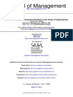 A Review of Scale Development Practices in the Study of Organizations