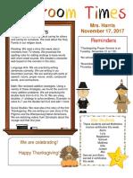november 17 newsletter