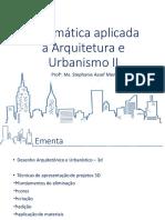 1- Informática Aplicada à Arquitetura e Urbanismo - 1) APRESENTAÇÃO DA DISCIPLINA.pptx