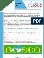 Banking & Economy Awareness PDF 2017( Jan to October) by AffairsCloud
