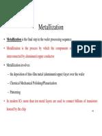 Unit III Metallization