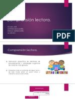 La Comprensión Lectora - Diapositivas