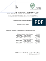 P1 Simulacion e Implementacion de Un Filtro de Primer Orden