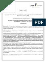 ACUERDO 163 de 2011 Se Reglamenta La Convocatoria 131 de 2011 Proceso de Seleccion de ASCENSO Para Proveer Por Concurso