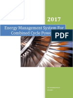 Energy Management System for Combined Cycle Power Plant Training