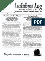 January 1998 Audubon Log Northeastern Wisconsin Audubon Society