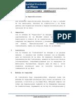 3.- ESPECIFICACIONES GENERALES