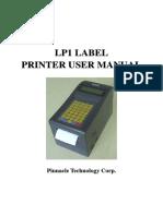 LP1 LABEL PRINTER USER MANUAL_Australia 3 inch.pdf