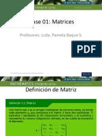 Clase 01. Matrices