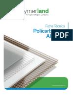 Polymerland Ficha Policarbonato Alveolar