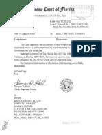 01-32017 Florida Bar v. Billy Thomas