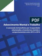 Adoecimento Mental e Trabalho - Secretaria Da Previdencia - Boletim
