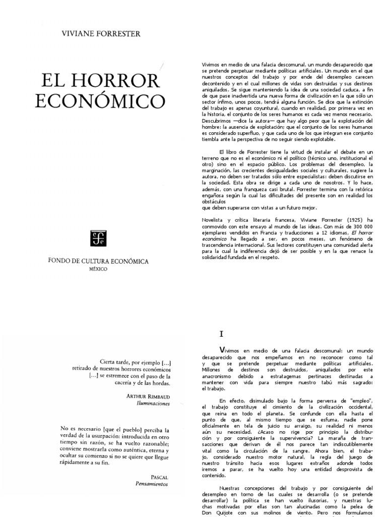El Horror Economico, Viviane Forrester