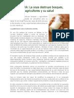 LECTURA - La Soya Destruye Bosques