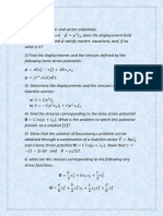 Solution of Elasticity Problems of Potentials