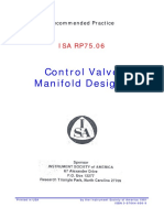 RP_75.06 Control Valve Manifold Design