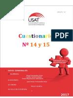Cuestionario 14 y 15