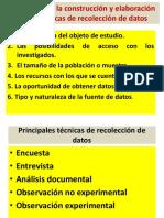 Criterios Para La Construcción de recopilación de datos
