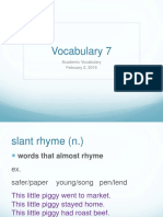 the vocabulary of poetry